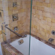 Kohler Tea for Two Bath Tub with Pinstripe Shower Trim
