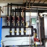 Lochinvar Knight Boiler with Mega Stor Indirect and Headers