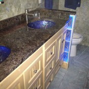 Glass Sinks With LED Lighting