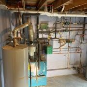Before Lochinvar Noble combi boiler installation